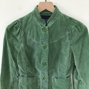 French Connection Green Corduroy Jacket
